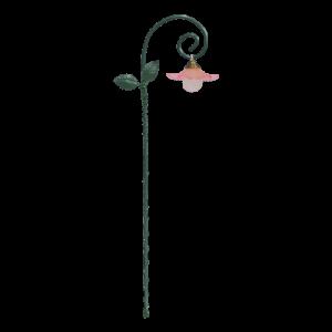 Glowing Flower & Leaf Lantern – Pink