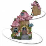 Persnickety Petals Solar Fairy House_view