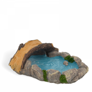 Pond with Log Bridge