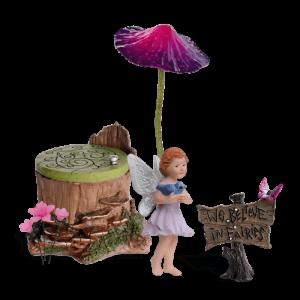 Silky Hollow Fairy Garden Kit