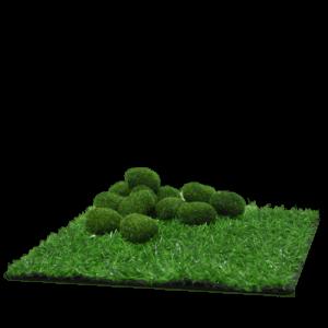 Grass Mat & Moss Rocks (Synthetic)