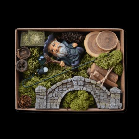 Wandering Wizard Fairy Garden Box Kit
